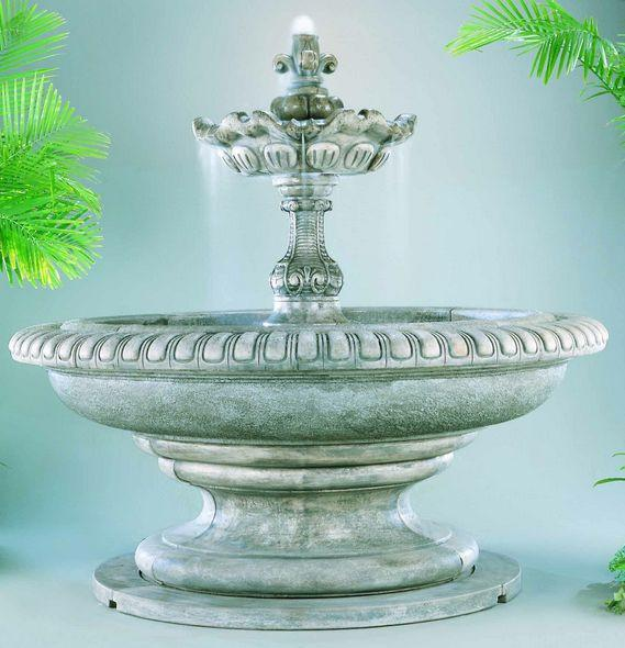 Grande Palazzo Fleur de Lys Outdoor Fountain - Soothing Company