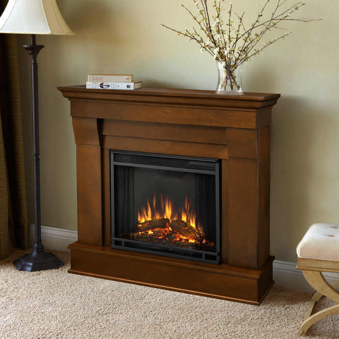 Espresso Chateau Electric Fireplace