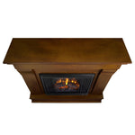 Dark Walnut Chateau Electric Fireplace