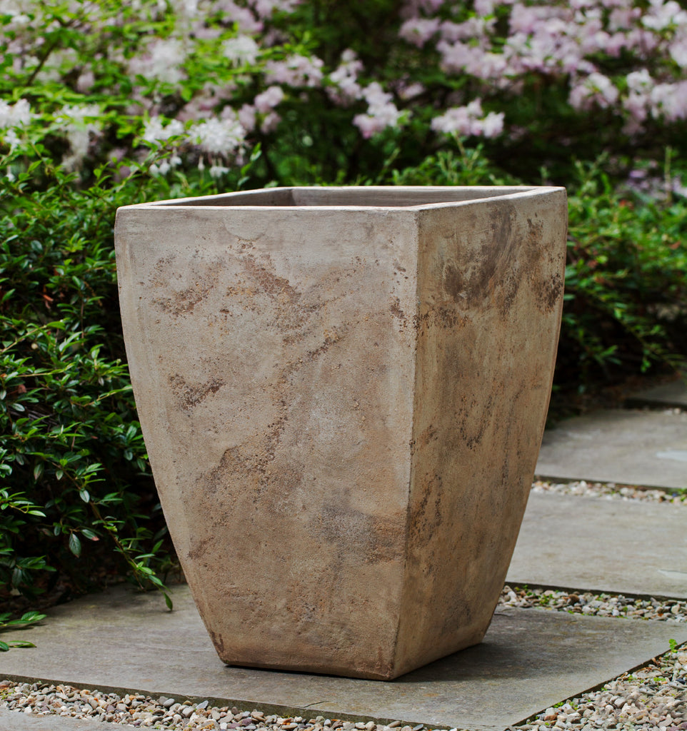 Square Brasilia Planter - Set of 3 in Antico Terra Cotta - Soothing Company