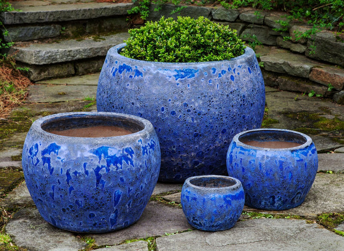Naxos Planter - Set of 4 in Angkor Blue - Soothing Company