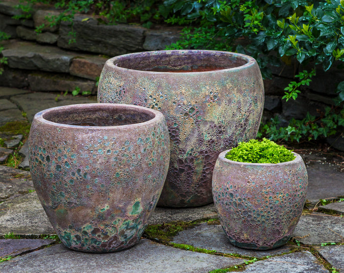 Symi Planter - Set of 3 in Angkor Green Mist - Soothing Company