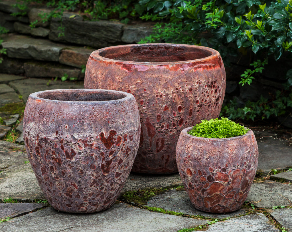 Symi Planter - Set of 3 in Angkor Red - Soothing Company