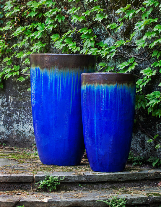 Orion Planter - Set of 2 in Bronze Blue - Soothing Company