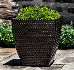Square Sisal Weave Planter - Soothing Company