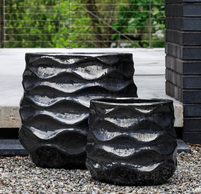 Rumba Planter - Set of 2 in Ice Black - Soothing Company