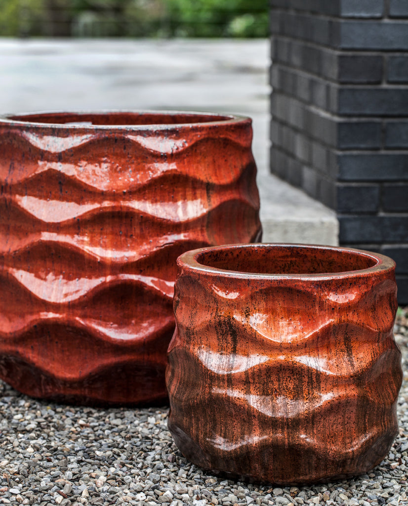 Rumba Planter - Set of 2 in Sunset Red - Soothing Company