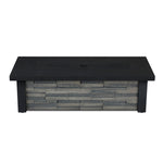 Berthoud Propane Fire Table in Stacked Stone with NG Conversion - Soothing Company