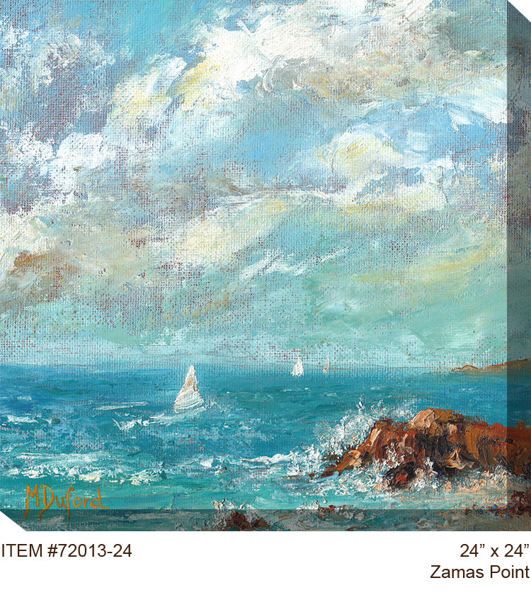 Zamas Point All Weather Outdoor Canvas Art - Soothing Company