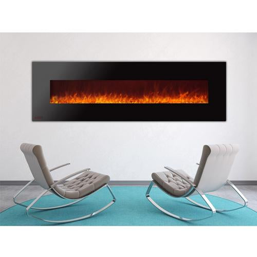 72 Royal Wall Mount Electric Fireplace With Crystals Soothing Company