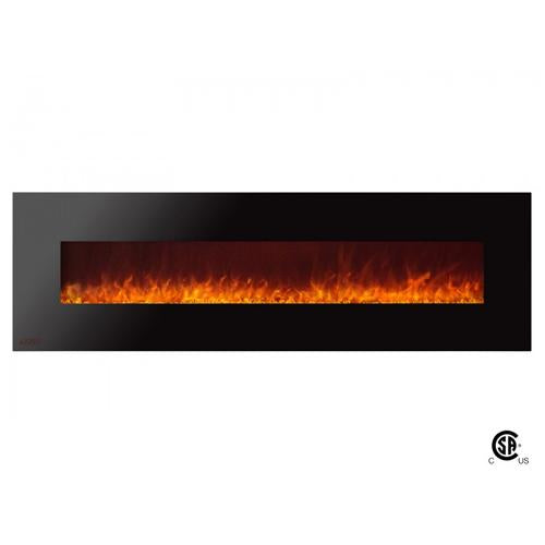 "72"" Royal Wall Mount Electric Fireplace with Crystals - Soothing Company"
