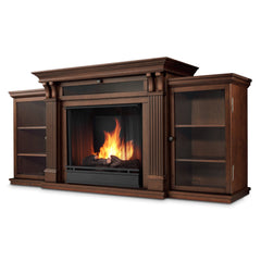 Calie Entertainment Center Electric Fireplace in Dark Espresso - Soothing Company