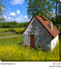Stone House All Weather Outdoor Canvas Art - Soothing Company