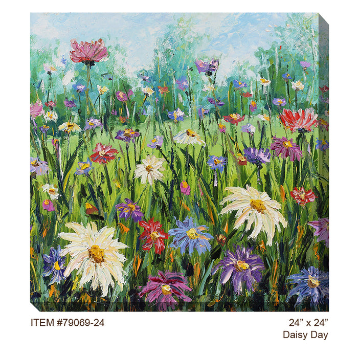 Daisy Day Outdoor Canvas Art - Soothing Company