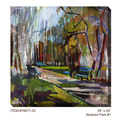 Abstract Park #1 Outdoor Canvas Art - Soothing Company