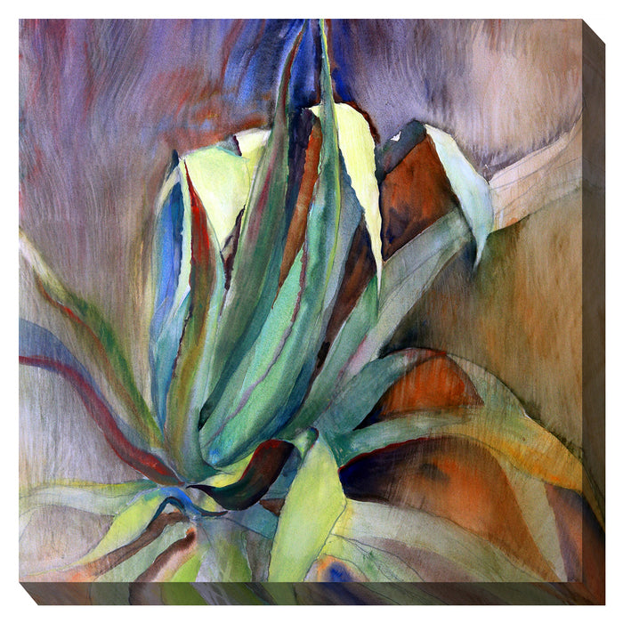 Aloe Watercolor Outdoor Canvas Art - Soothing Company