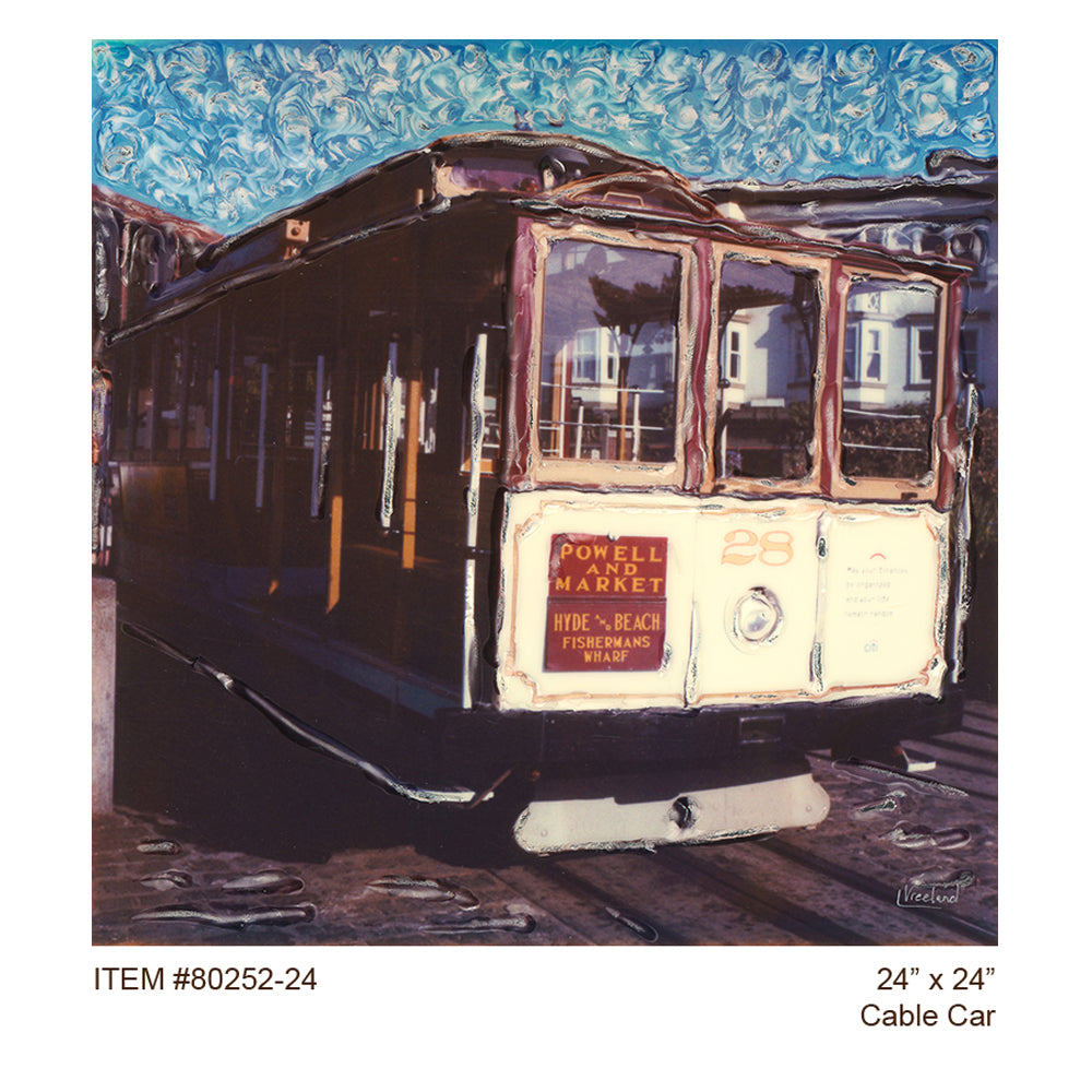 Cable Car Outdoor Canvas Art - Soothing Company