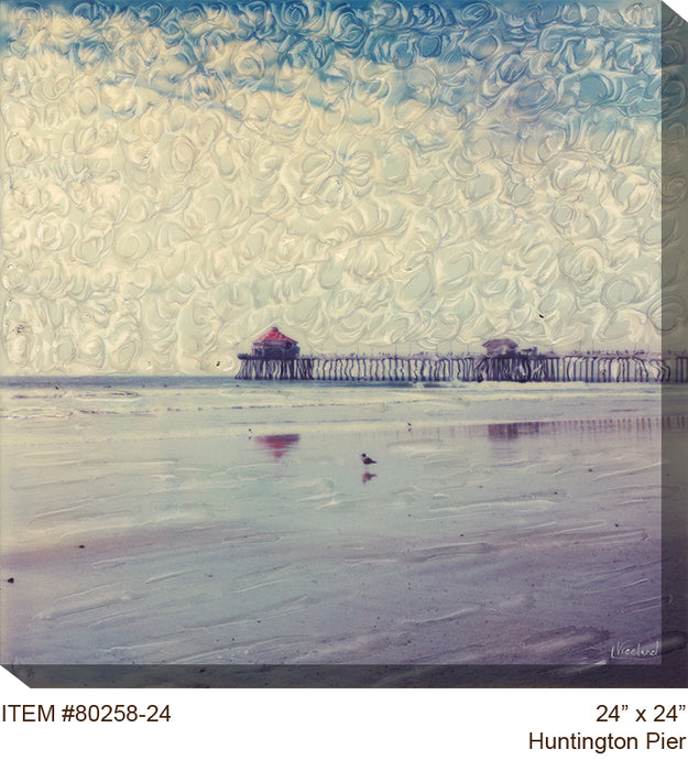 Huntington Pier Outdoor Canvas Art  - Soothing Company