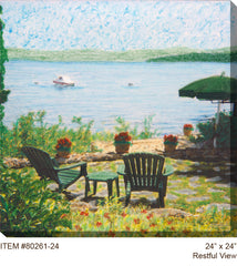 Restful View Outdoor Canvas Art - Soothing Company