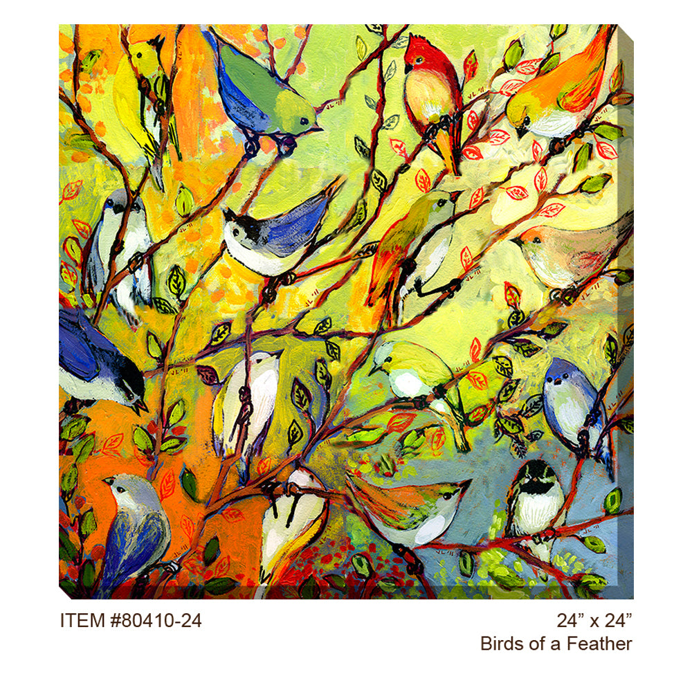 Birds of a Feather Outdoor Canvas Art - Soothing Company