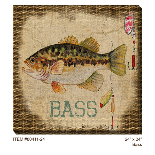 Bass Outdoor Canvas Art  - Soothing Company