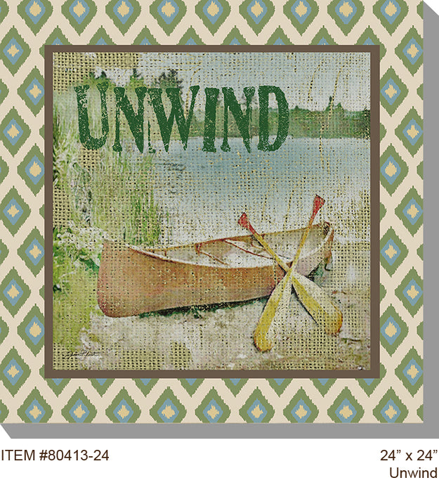 Unwind Outdoor Canvas Art - Soothing Company