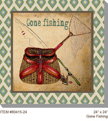 Gone Fishing Outdoor Canvas Art - Soothing Company