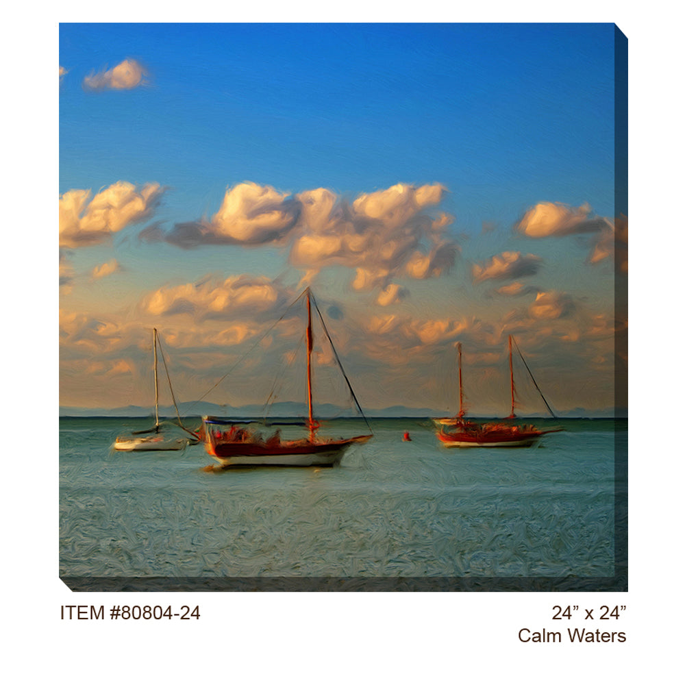 Calm Waters Outdoor Canvas Art - Soothing Company