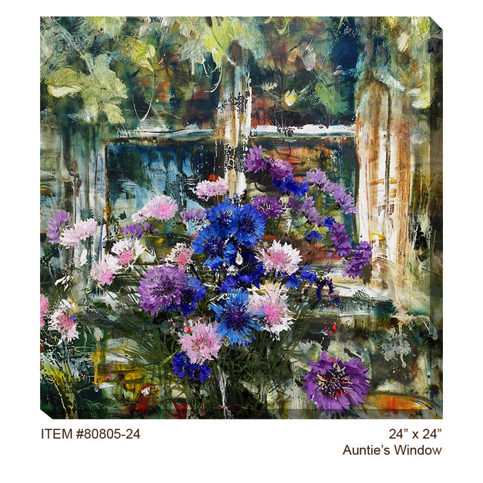 Auntie's Window Outdoor Canvas Art - Soothing Company