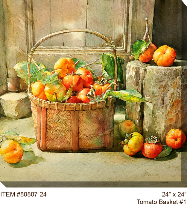 Tomato Basket #1 Outdoor Canvas Art - Soothing Company