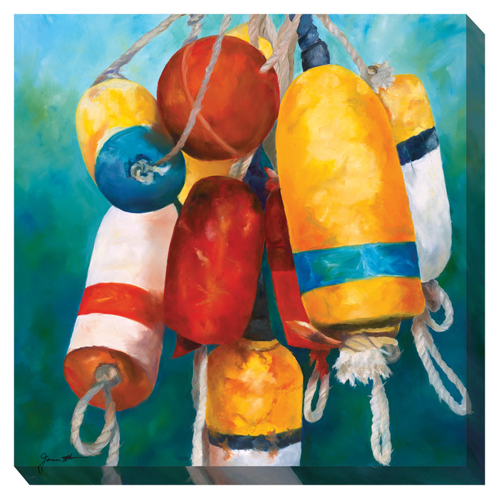 Buoys #1 Outdoor Canvas Art - Soothing Company