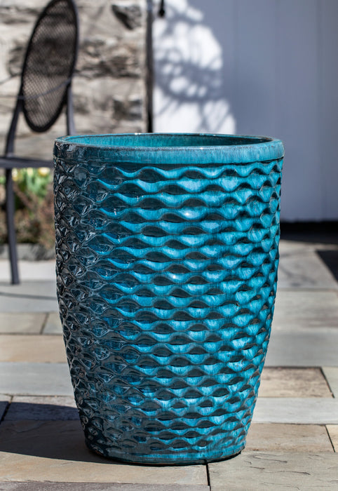Tall Honeycomb Planter - Set of 4 in Aqua - Soothing Company