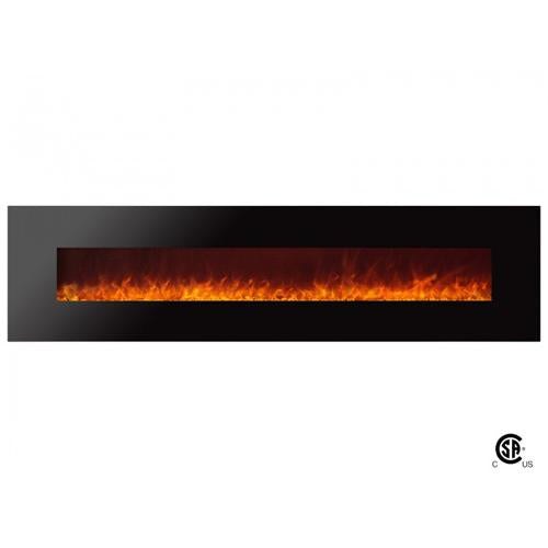 "95"" Royal Wall Mount Electric Fireplace with Crystals - Soothing Company"