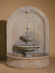 Seasons Change Cast Stone Wall Outdoor Fountain - Soothing Walls