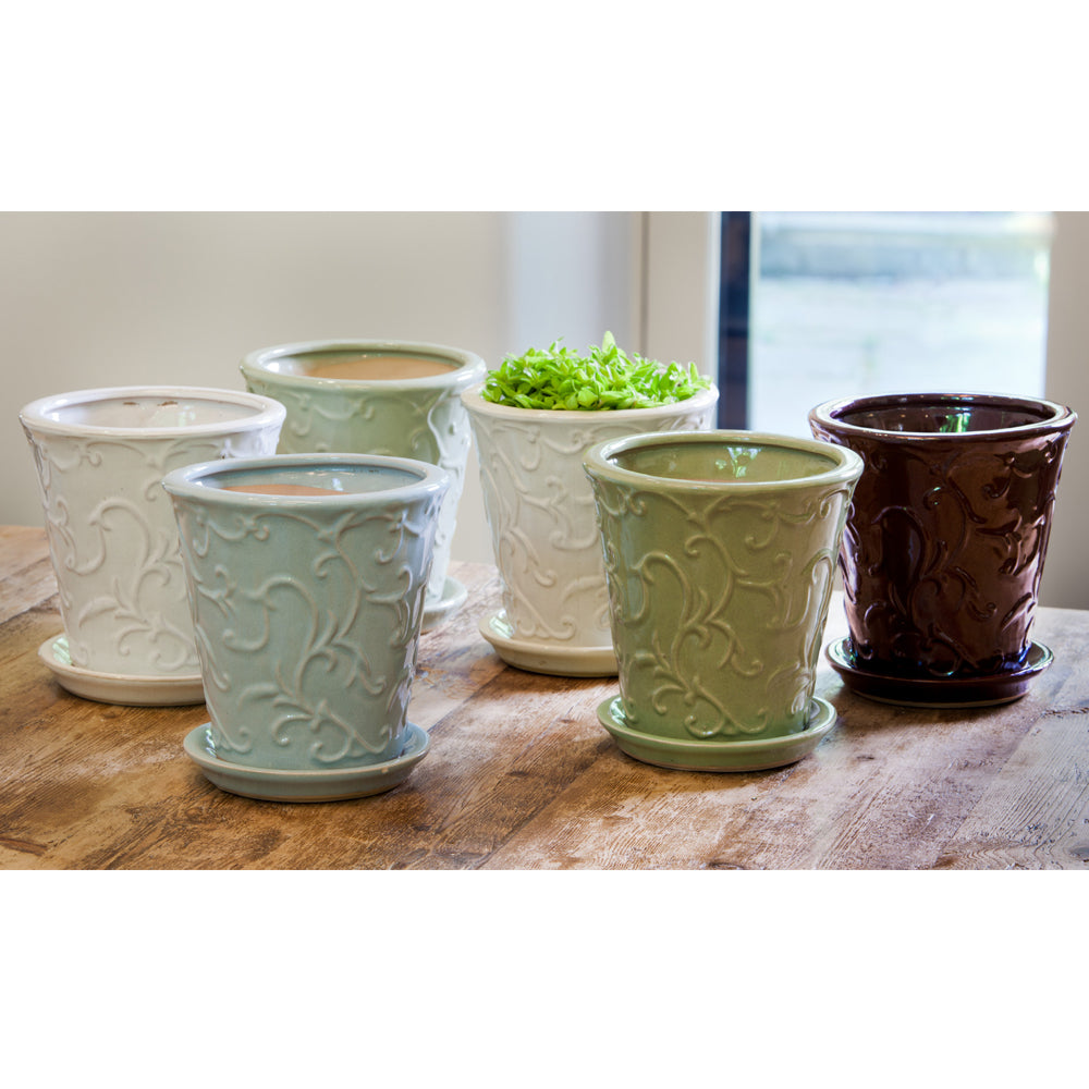 Anabelle Planter Set of 6 in Linen Mix - Soothing Company