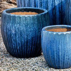 Andromeda Planter Set of 4 in Blue Pearl - Soothing Company