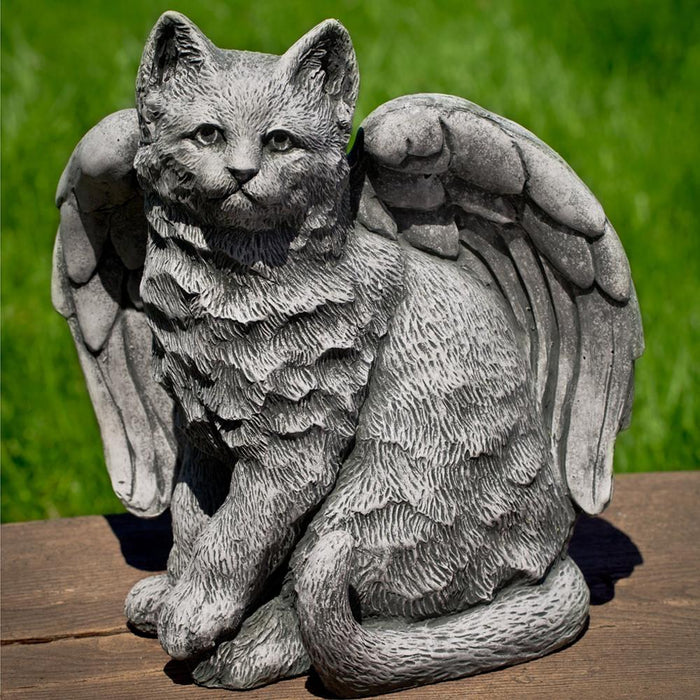 Angel Kitty Cast Stone Garden Statue - Soothing Company