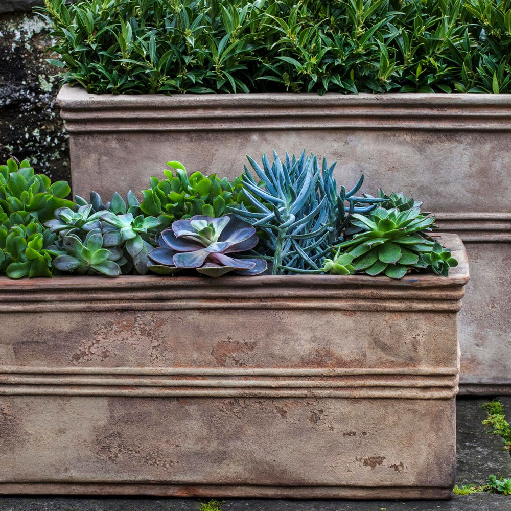 Antico Rectangular Planter Set of 2 - Soothing Company