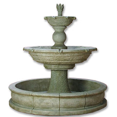 Antiquarium Two Tier Pond Outdoor Water Fountain - Soothing Company