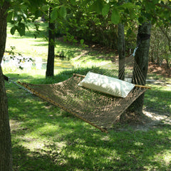 Large Original DuraCord Rope Hammock - Antique Brown - SoothingCompany