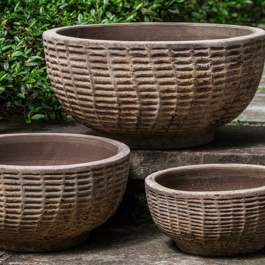 Antique Lattice Basket - Set of 3 in Antico Terra Cotta - Soothing Company