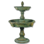 Appia Antica Two Tier Lion Outdoor Water Fountain - Soothing Company