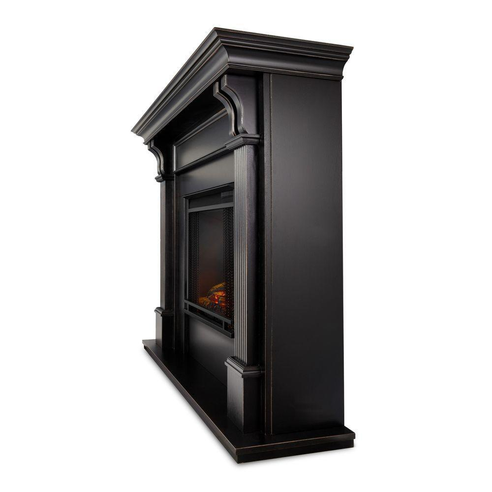 Ashley Electric Fireplace in Blackwash - Soothing Company