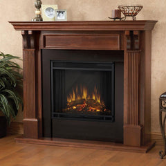 Ashley Electric Fireplace in Mahogany - Soothing Company