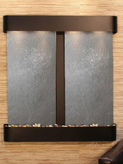 Aspen Falls: Black FeatherStone and Blackened Copper Trim with Rounded Corners