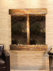 Aspen Falls: Bronze Mirror and Rustic Copper Trim with Squared Corners