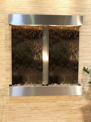 Aspen Falls: Bronze Mirror and Stainless Steel Trim with Squared Corners