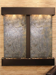 Aspen Falls: Green FeatherStone and Blackened Copper Trim with Squared Corners