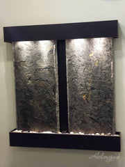 Aspen Falls: Green Slate and Blackened Copper Trim with Squared Corners