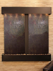 Aspen Falls: Multi-Color FeatherStone and Blackened Copper Trim with Squared Corners
